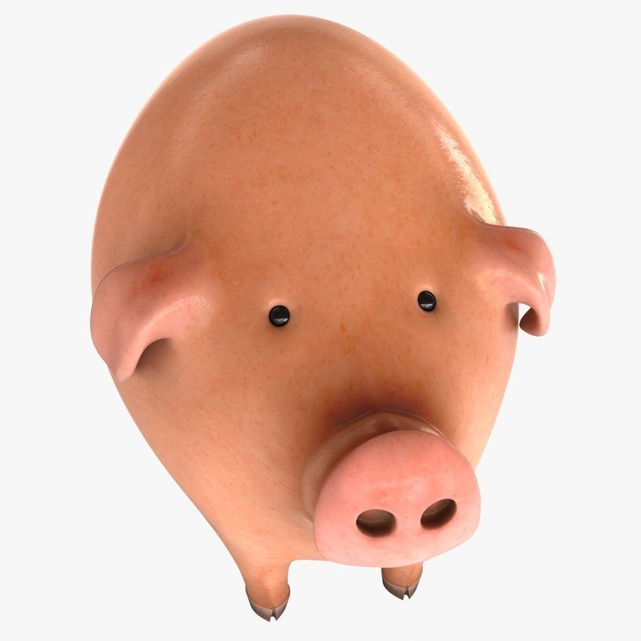 Porco dos desenhos animados royalty-free 3d model - Preview no. 4