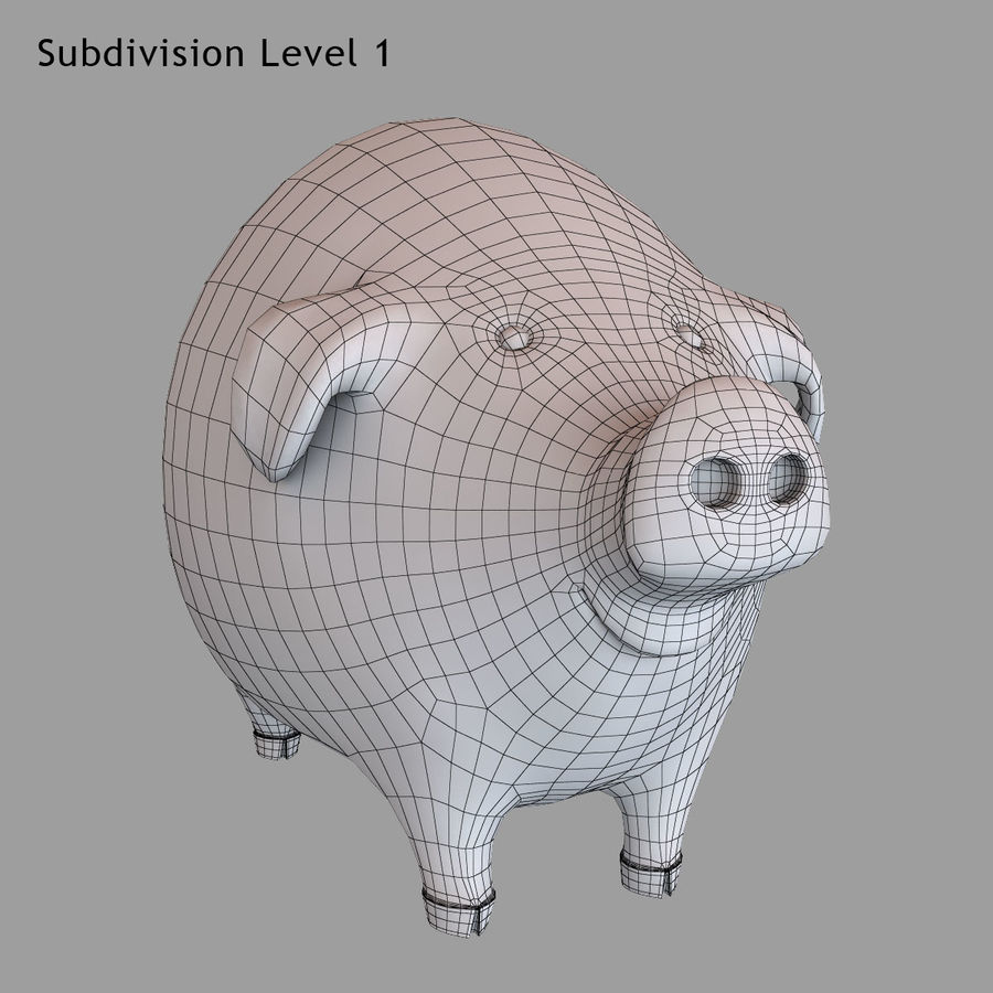 Porco dos desenhos animados royalty-free 3d model - Preview no. 20