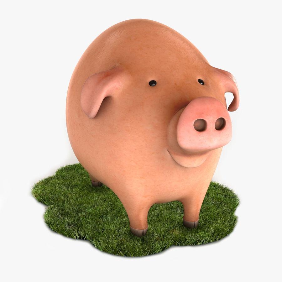 Porco dos desenhos animados royalty-free 3d model - Preview no. 1