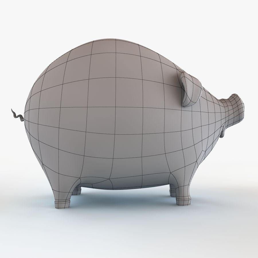 Porco dos desenhos animados royalty-free 3d model - Preview no. 14