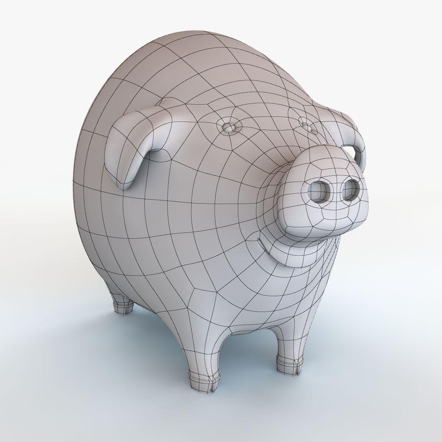 Porco dos desenhos animados royalty-free 3d model - Preview no. 13