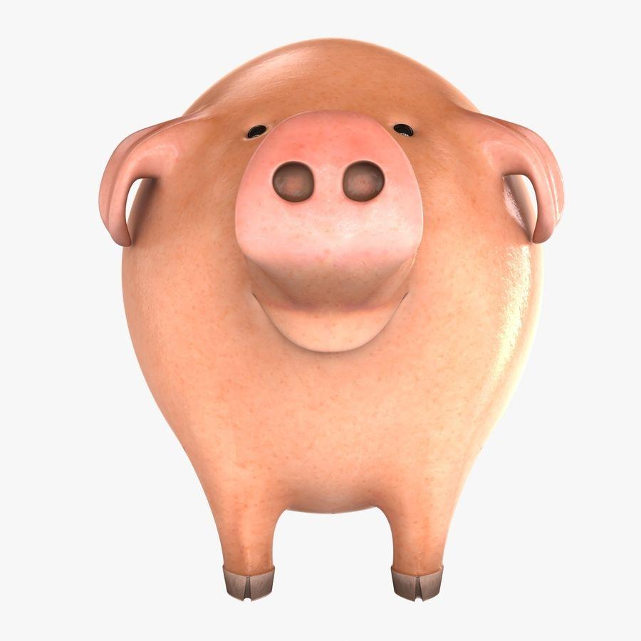Porco dos desenhos animados royalty-free 3d model - Preview no. 8