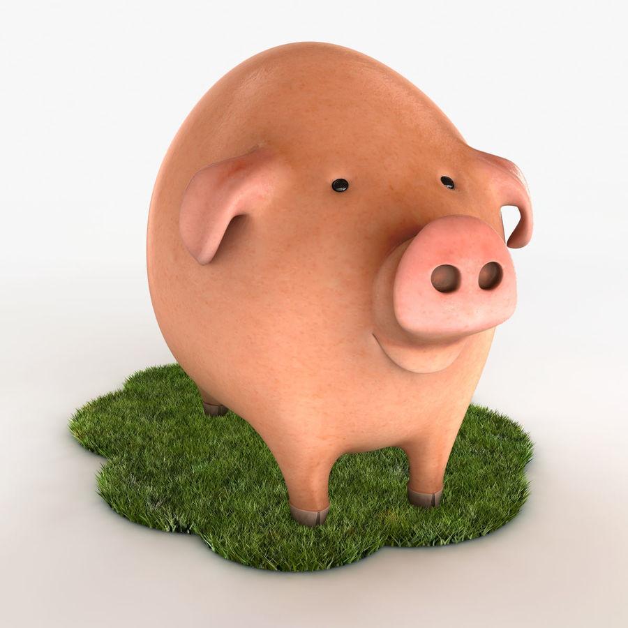 Porco dos desenhos animados royalty-free 3d model - Preview no. 2