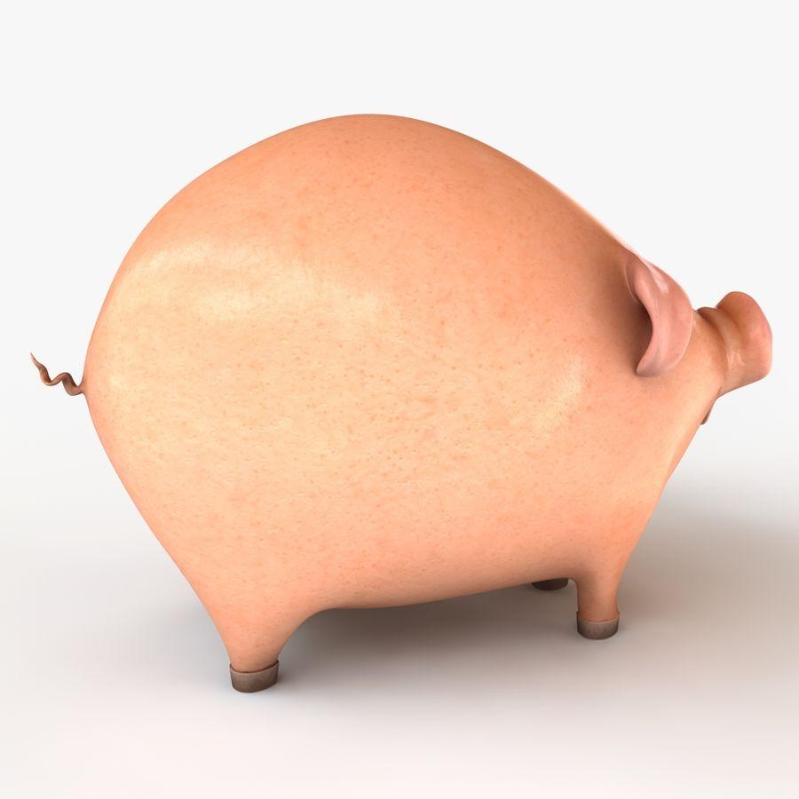 Porco dos desenhos animados royalty-free 3d model - Preview no. 7