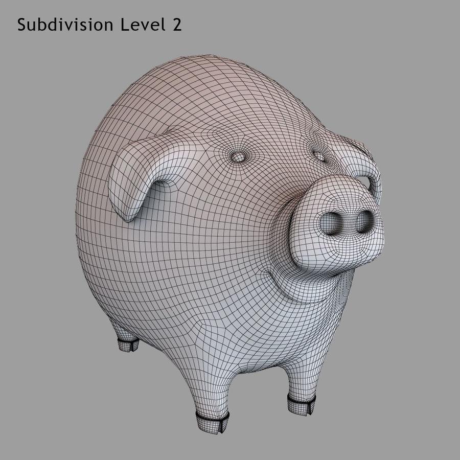 Porco dos desenhos animados royalty-free 3d model - Preview no. 21