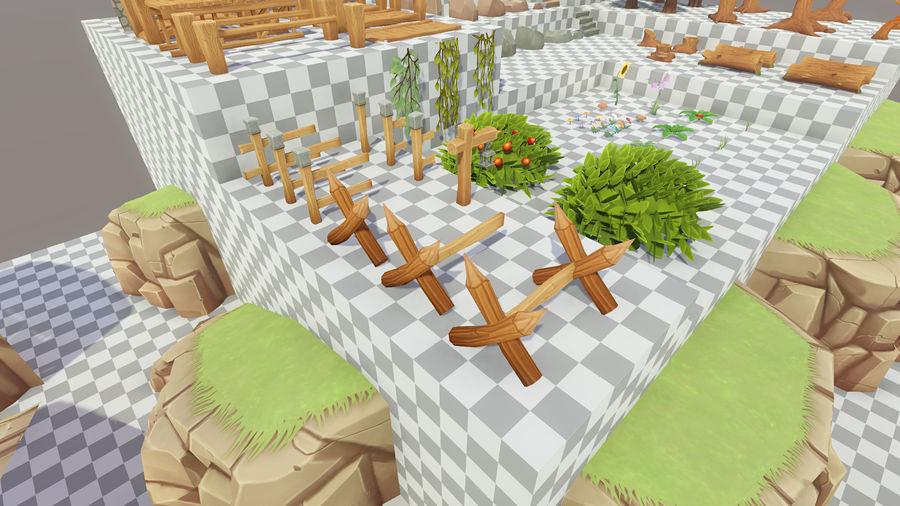 Ręcznie malowany pakiet leśny royalty-free 3d model - Preview no. 14