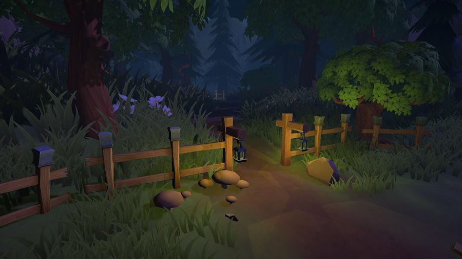 Ręcznie malowany pakiet leśny royalty-free 3d model - Preview no. 8