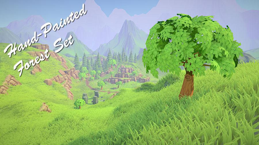 Ręcznie malowany pakiet leśny royalty-free 3d model - Preview no. 1