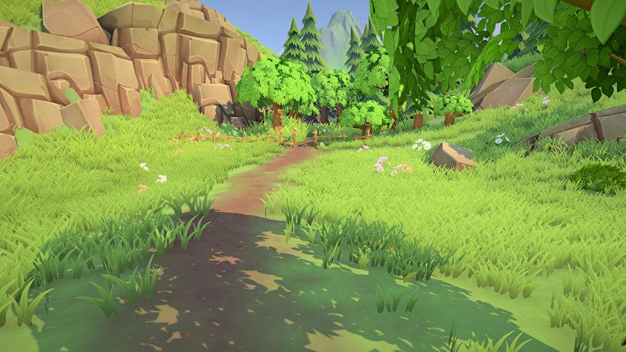 Ręcznie malowany pakiet leśny royalty-free 3d model - Preview no. 2