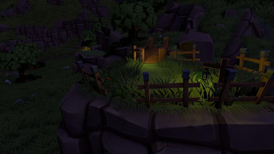 Ręcznie malowany pakiet leśny royalty-free 3d model - Preview no. 3