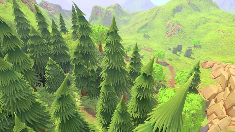 Ręcznie malowany pakiet leśny royalty-free 3d model - Preview no. 6