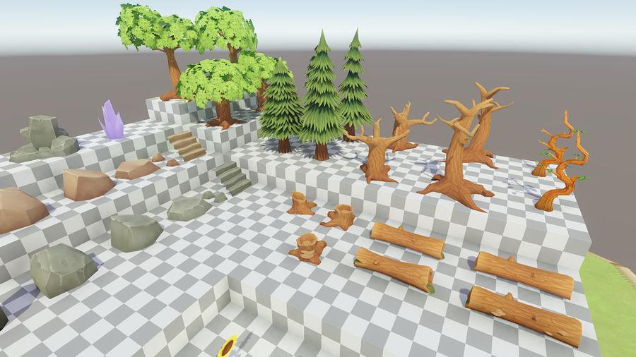 Ręcznie malowany pakiet leśny royalty-free 3d model - Preview no. 12