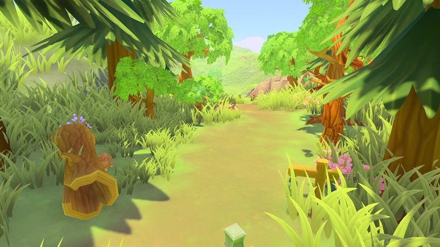 Ręcznie malowany pakiet leśny royalty-free 3d model - Preview no. 5