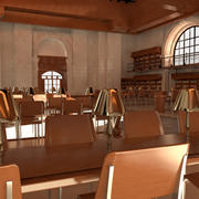 Interior Library(1) 3d model