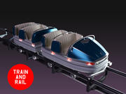 Lunapark treni araba 3d model