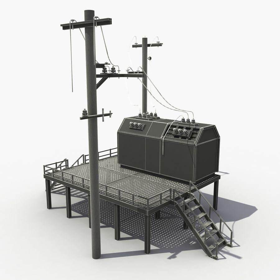 発電所 royalty-free 3d model - Preview no. 8