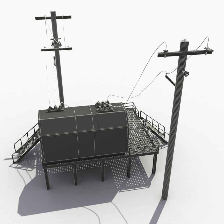 発電所 royalty-free 3d model - Preview no. 9