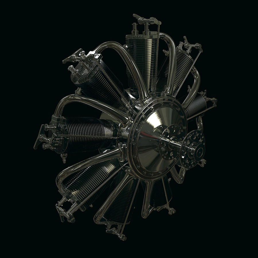 Radial engine royalty-free 3d model - Preview no. 1