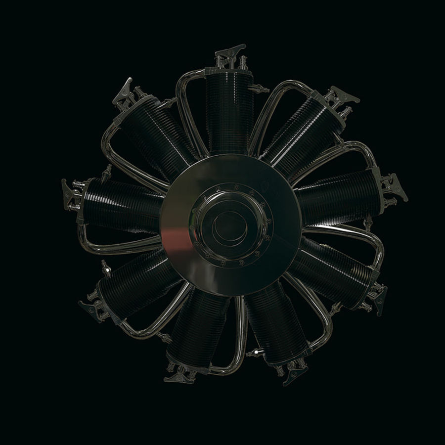 Radial engine royalty-free 3d model - Preview no. 5
