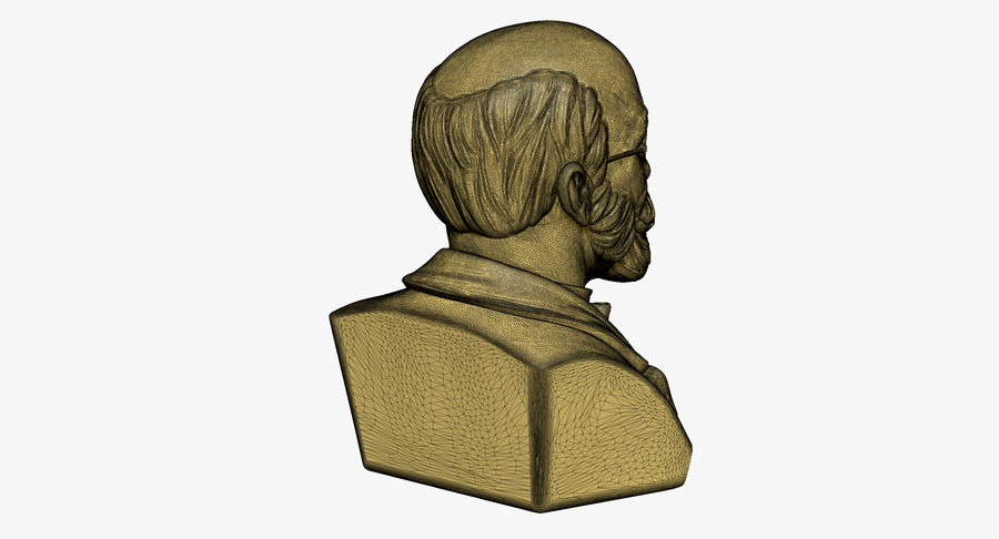 Zamenhof Bust royalty-free 3d model - Preview no. 9