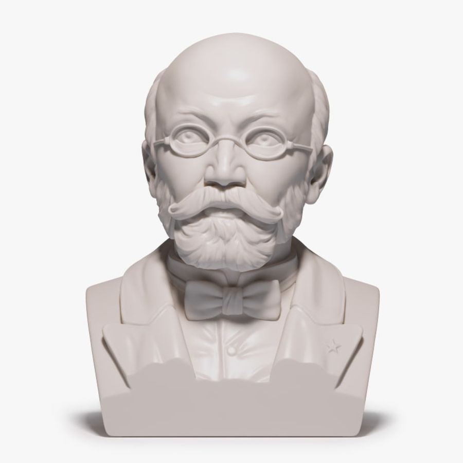 Zamenhof Bust royalty-free 3d model - Preview no. 1