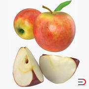 Apple Fruit Collection 3d model