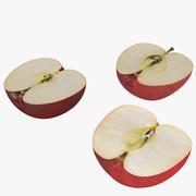 Яблочный красный 3d model