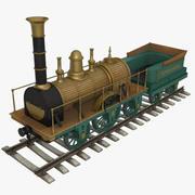 1836 steam locomotive 3d model