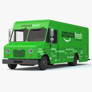 Camión de reparto Amazon Fresh modelo 3d