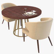 Hyper Realistic Dining Table Set 3d model