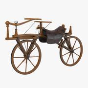 第一世代のバランス自転車 3d model