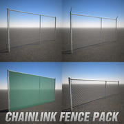 Chainlink Fence Pack 3d model