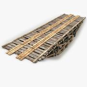 Old Modular Wooden Bridge 3d model