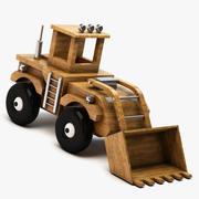 Escavadora de madeira 3d model
