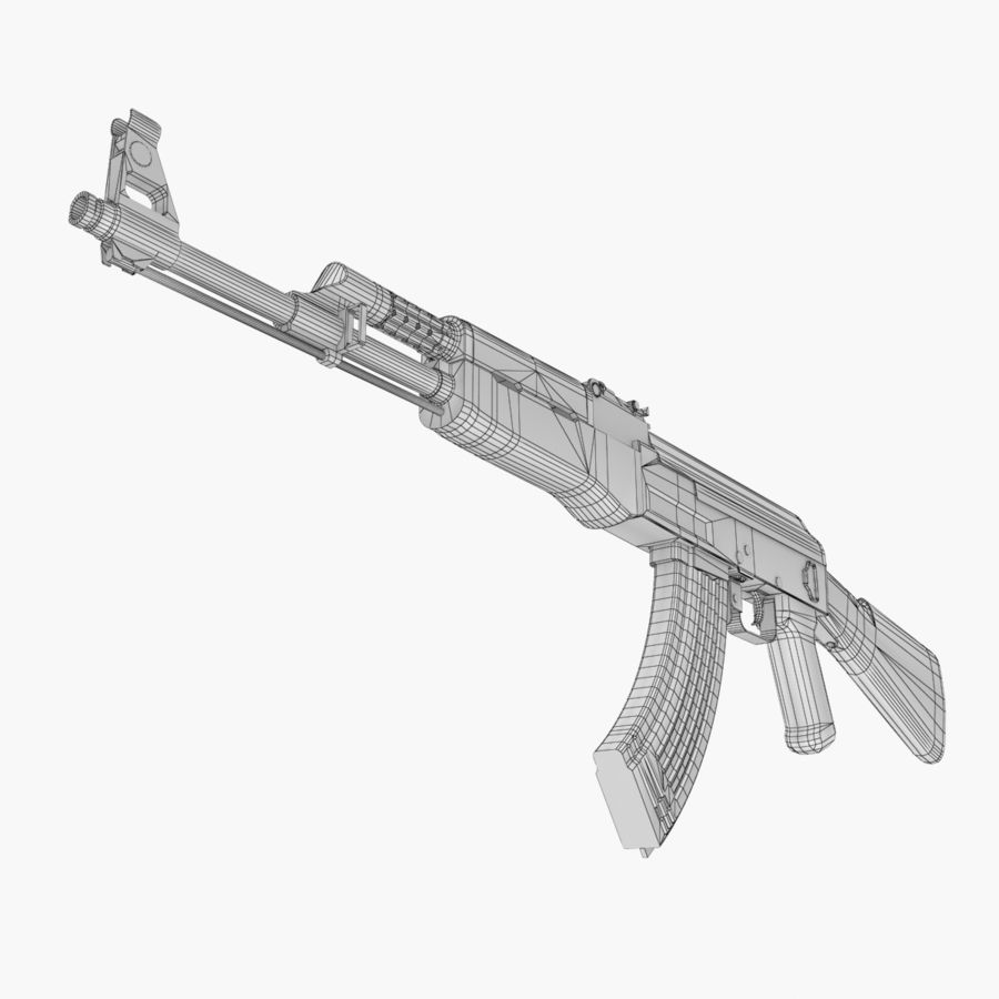 AK 47 royalty-free 3d model - Preview no. 13