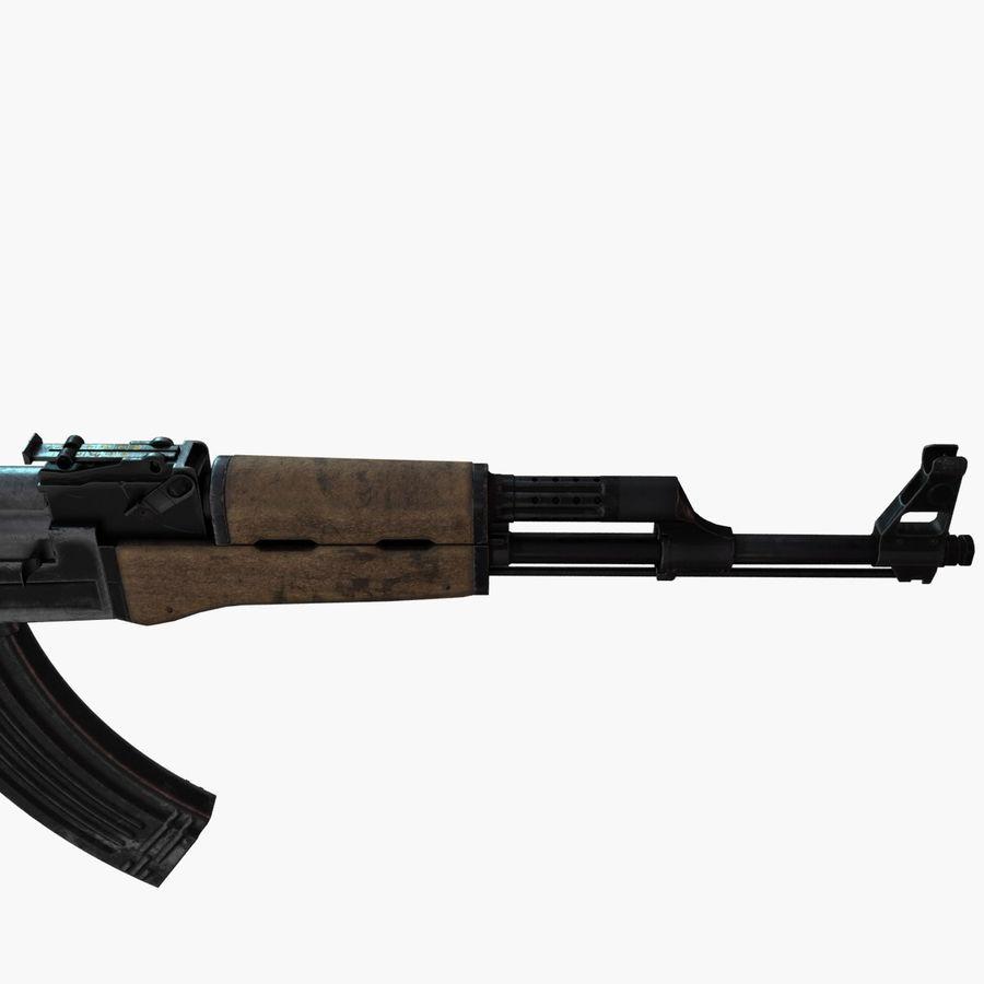 AK 47 royalty-free 3d model - Preview no. 6