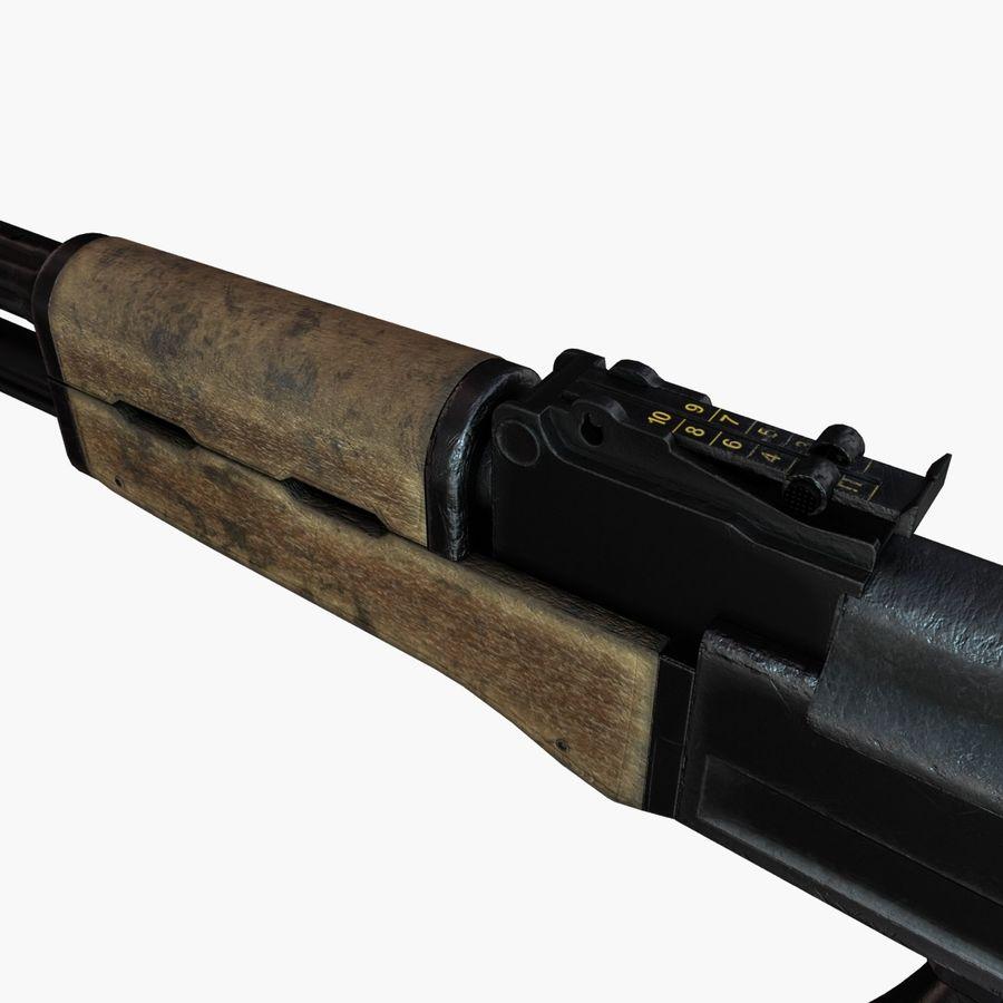 AK 47 royalty-free 3d model - Preview no. 9