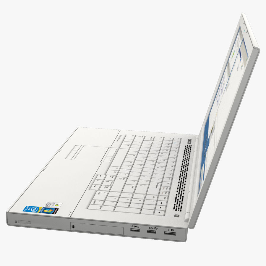 Laptop computer 2 royalty-free 3d model - Preview no. 6