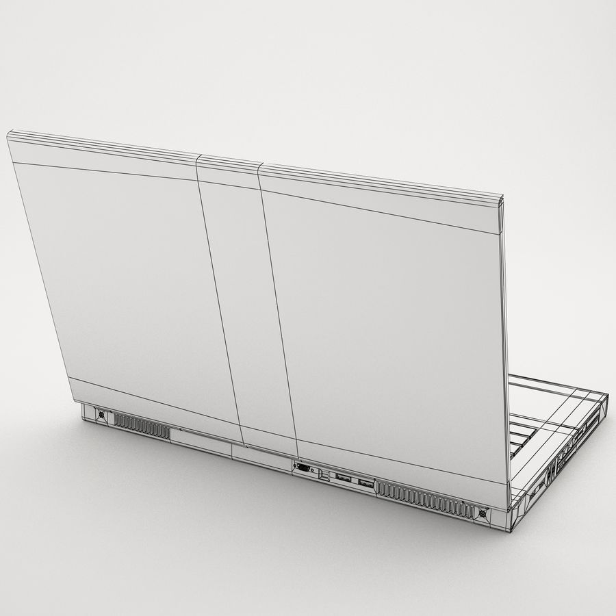 Laptop computer 2 royalty-free 3d model - Preview no. 9