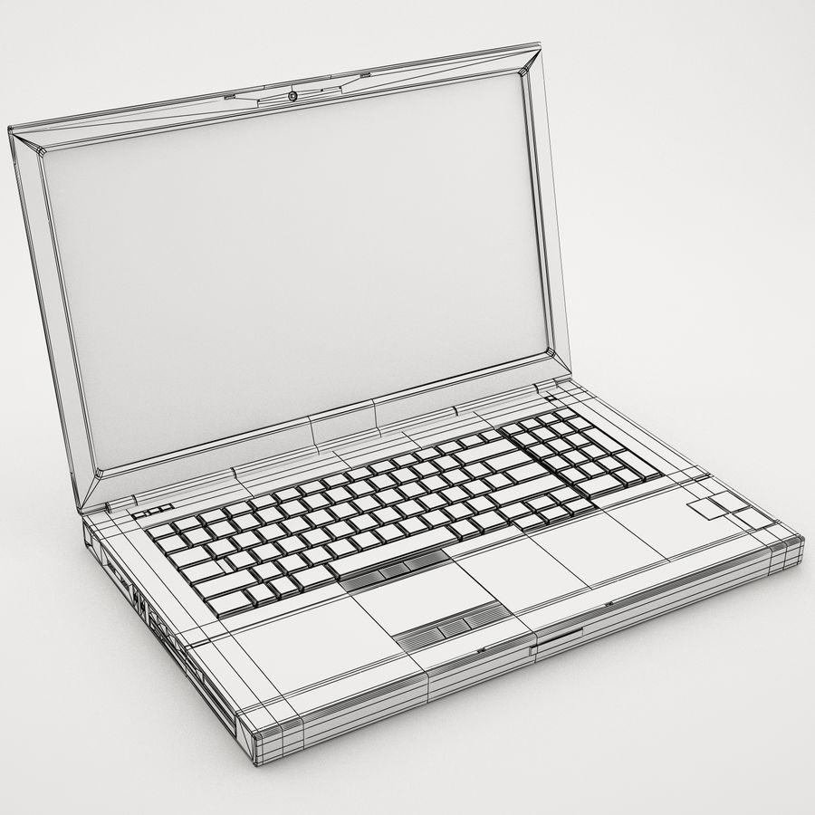 Laptop computer 2 royalty-free 3d model - Preview no. 8