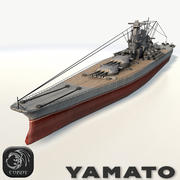 Battleship Yamato low poly 3d model