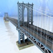 Manhattan Bridge NYC 3d model