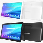 Samsung Galaxy View Black & White (Rigged) 3d model