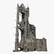 Sci-Fi Power Tower 3d model