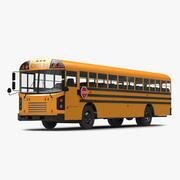 Autobus scolaire simple intérieur 3d model