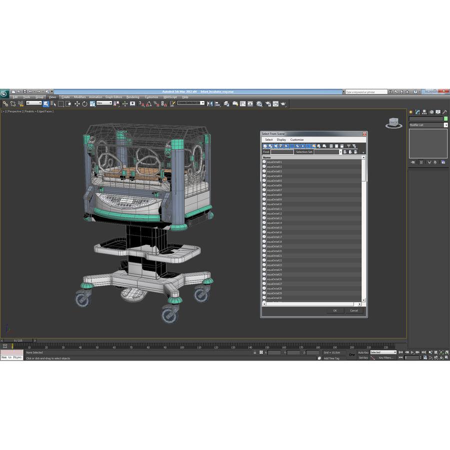 유아 인큐베이터 royalty-free 3d model - Preview no. 28