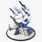 Sci-fi Radar 3d model
