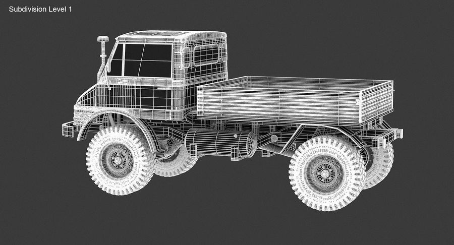 Unimog 406 royalty-free 3d model - Preview no. 14