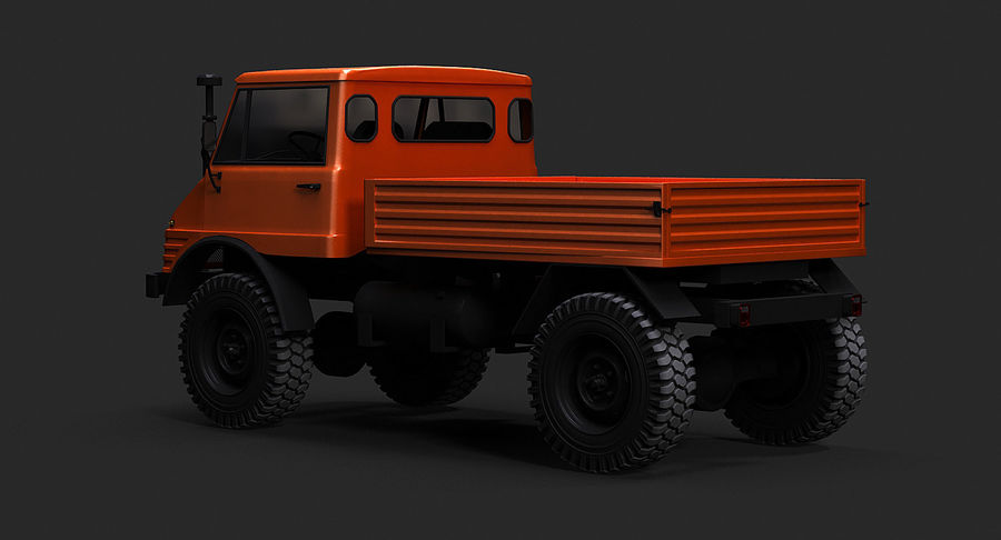 Unimog 406 royalty-free 3d model - Preview no. 6