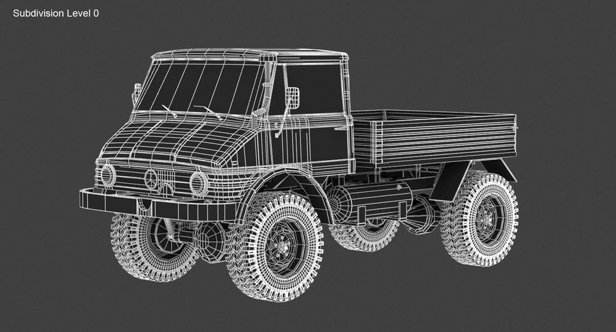 Unimog 406 royalty-free 3d model - Preview no. 15